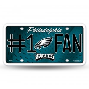 EAGLES #1 FAN PRIMARY LOGO METAL NUMBER PLATE