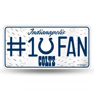 INDIANAPOLIS COLTS #1 FAN METAL NUMBER PLATE