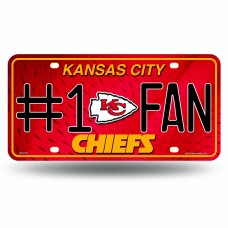 CHIEFS #1 FAN PRIMARY LOGO METAL TAG