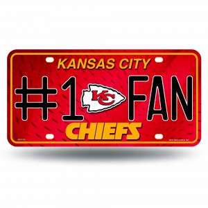 CHIEFS #1 FAN PRIMARY LOGO METAL NUMBER PLATE