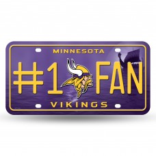 VIKINGS #1 FAN PRIMARY LOGO METAL TAG