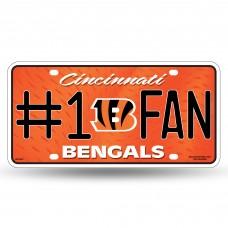 BENGALS #1 FAN METAL TAG