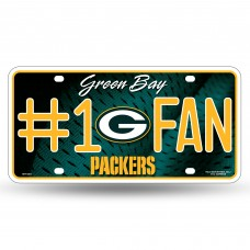 PACKERS #1 FAN PRIMARY LOGO METAL TAG