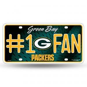 PACKERS #1 FAN PRIMARY LOGO METAL NUMBER PLATE