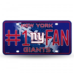 GIANTS - NY BLING # 1 FAN METAL NUMBER PLATE