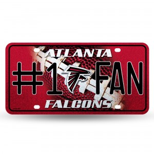 FALCONS BLING # 1 FAN METAL NUMBER PLATE
