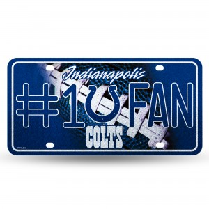 COLTS BLING # 1 FAN METAL NUMBER PLATE