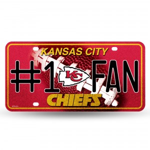 CHIEFS BLING # 1 FAN METAL NUMBER PLATE