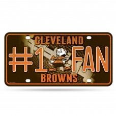 BROWNS BLING # 1 FAN METAL TAG