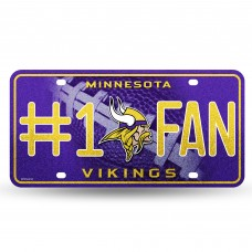 VIKINGS BLING # 1 FAN METAL TAG