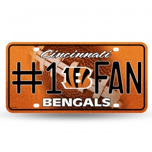 BENGALS BLING # 1 FAN METAL NUMBER PLATE