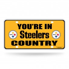 STEELERS COUNTRY METAL TAG (YELLOW)