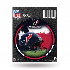 HOUSTON TEXANS RED ROUND DECAL