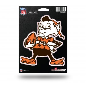 CLEVELAND BROWNS MEDIUM DIE CUT STICKERS
