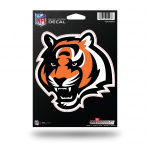 CINCINNATI BENGALS MEDIUM DIE CUT STICKERS