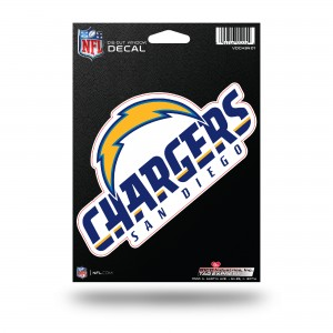 SAN DIEGO CHARGERS MEDIUM DIE CUT STICKERS