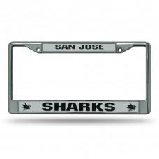 SAN JOSE SHARKS SILVER CHROME FRAME