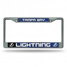 TAMPA BAY LIGHTNING CIRCLE BOLT LOGO CHROME FRAME