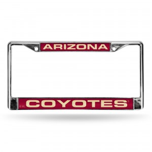 ARIZONA COYOTES LASER CHROME ARIZONA LICENSE PLATES FRAME