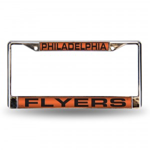 FLYERS ORANGE LASER CHROME PENNSYLVANIA LICENSE PLATES FRAME