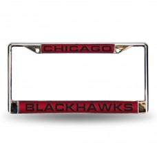 BLACKHAWKS RED LASER CHROME FRAME
