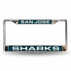 SAN JOSE SHARKS TEAL LASER CHROME FRAME