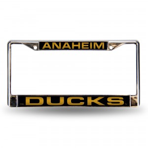 ANAHEIM DUCKS BLK LASER CHROME CALIFORNIA LICENSE PLATE FRAME