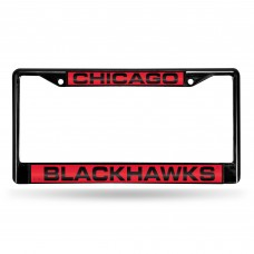 CHICAGO BLACKHAWKS BLACK LASER CHROME FRAME