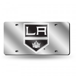 LOS ANGELES KINGS SILVER LASER CALIFORNIA LICENSE PLATE