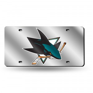 SHARKS LASER CALIFORNIA LICENSE PLATE