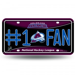 COLORADO AVALANCHE #1 FAN METAL NUMBER PLATE
