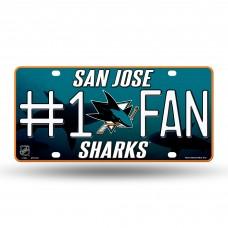 SAN JOSE SHARKS #1 FAN OCEAN METAL TAG