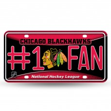 BLACKHAWKS BLING # 1 FAN METAL TAG