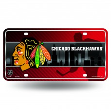 CHICAGO BLACKHAWKS SKYLINE METAL TAG