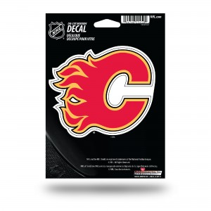 CALGARY FLAMES MEDIUM DIE CUT STICKERS