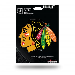 CHICAGO BLACKHAWKS MEDIUM DIE CUT STICKERS