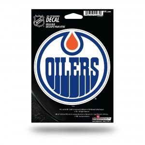 EDMONTON OILERS MEDIUM DIE CUT STICKERS