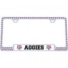 Texas A&M Bling License Plate Frame