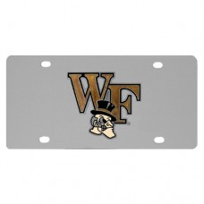 Wake Forest Demon Deacons Stainless Steel License Plate