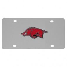 Arkansas Razorbacks Stainless Steel License Plate