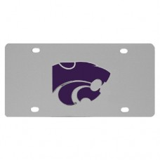 Kansas St. Wildcats Stainless Steel License Plate