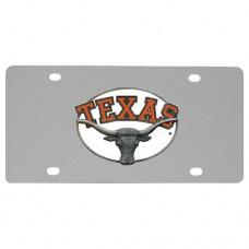 Texas Longhorns Stainless Steel License Plate