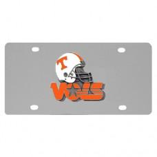 Tennessee Volunteers Helmet Stainless Steel License Plate