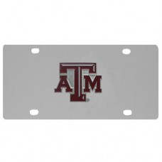 Texas A & M Aggies Stainless Steel License Plate