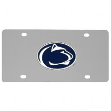 Penn St. Nittany Lions Stainless Steel License Plate