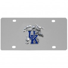 Kentucky Wildcats Stainless Steel License Plate
