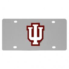 Indiana Hoosiers Stainless Steel License Plate