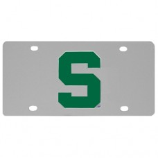 Michigan St. Spartans Stainless Steel License Plate