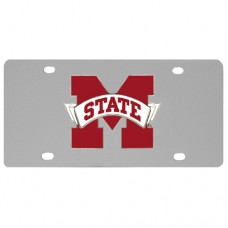 Mississippi St. Bulldogs Stainless Steel License Plate