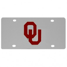 Oklahoma Sooners Stainless Steel License Plate